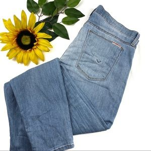 Hudson Krista Super Skinny Crop Jeans Distressed